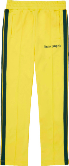 Palm Angels Yellow And Green Stripe Trackpants