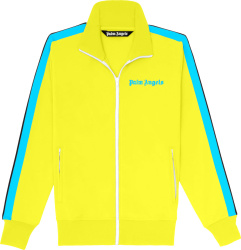 Palm Angels Yellow And Neon Blue Side Stripe Track Jacket