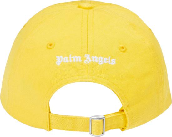 Palm Angels Yellow Logo Hat