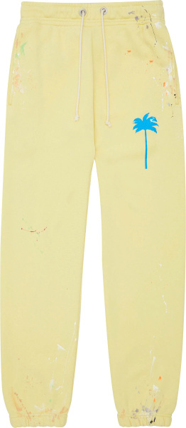 Palm Angels Yellow Palm Tree Sweatpants