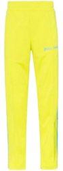 Palm Angels Yellow Track Pants With Blue Side Stripes Worn By Swae Lee