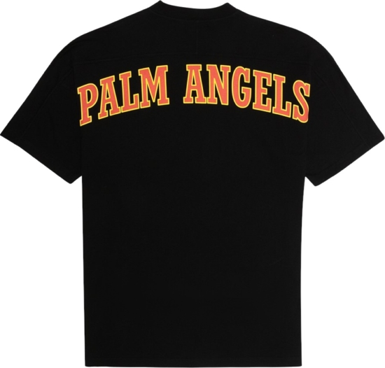 Palm Angle Red And Yellow Logo Print T Shirt