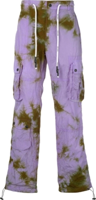 Palm Angles Purple And Brown Tie Dye Cargo Pants