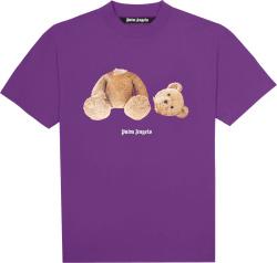 Palm Angles Purple Teddy Bear T Shirt