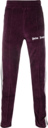 Palm Angles Ribbed Side Stripe Purple Trackpants