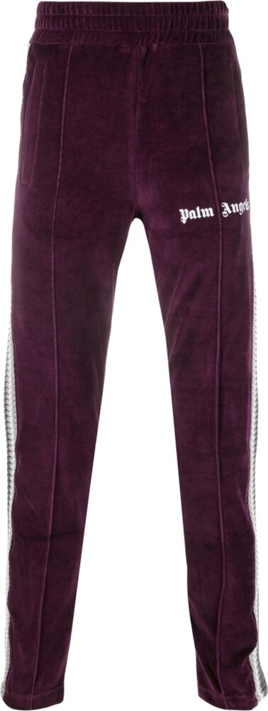 Palm Angles Ribbed Side Stripe Purple Trackpants