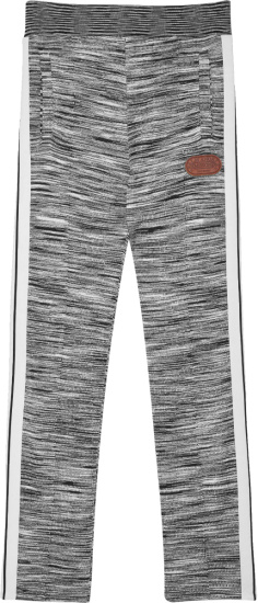 Palm Angles X Missoni Grey And White Stripe Trackpants