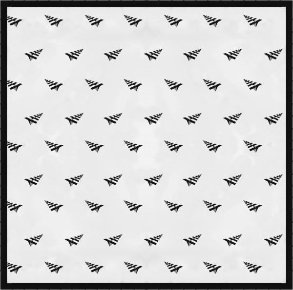 Paper Planes White Allover Striped Planes Logo Handkerchief
