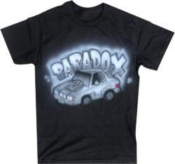 Paradox Lab Black Airbrush Car T Shirt