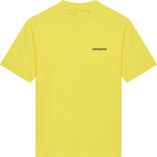 Patagonia Yellow Logo Print T Shirt