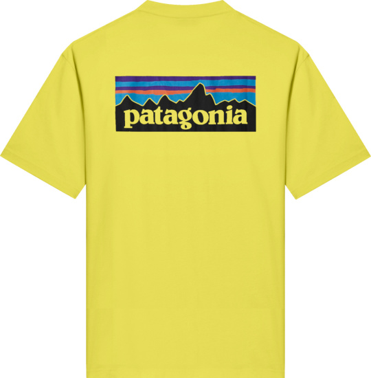 Patagonia Yellow P6 Logo T Shirt