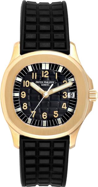 Patek Philippe Gold And Black Rubber Aquanaut 5066