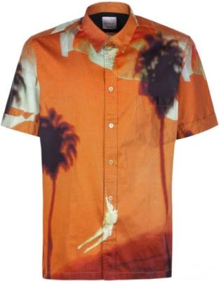 Paul Smith Orange Palm Tree Print Shirt