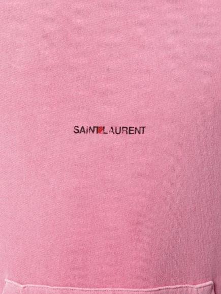 Pink Saint Laurent Hoodie With Black Logo Print Spy Kids Music Vidoo