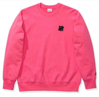 Pink Undefeated Icon Crewneck