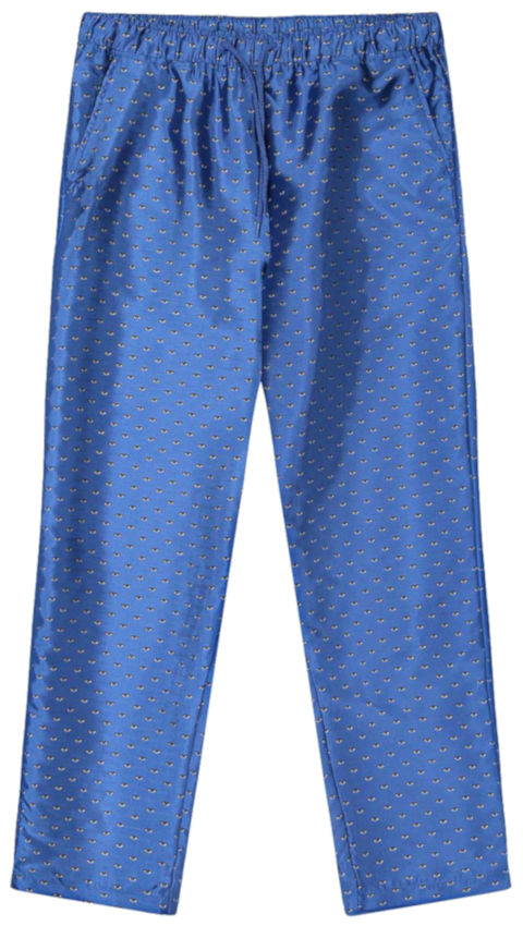 Pleasures Blue Optical Track Pants Worn By Lil Wayne