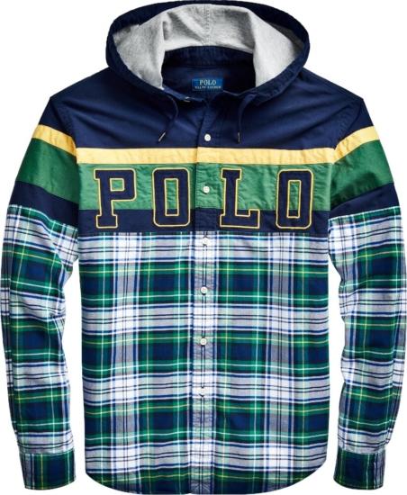 Polo Ralph Lauren Tartan Patchwork Hooded Shirt