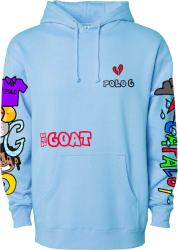Polo G Light Blue 'The Goat' Merch Hoodie