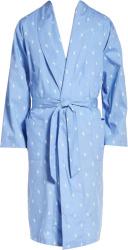 Polo Ralph Lauren Beach Blue Allover Pony Robe
