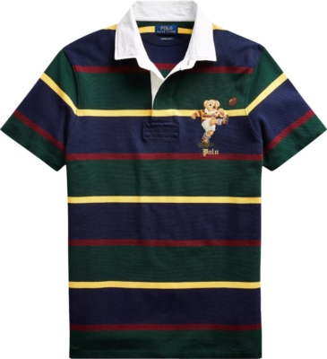Polo Ralph Lauren Bear Embroidered Striped Rugby Shirt