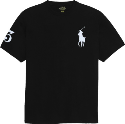 Polo Ralph Lauren Black Big Pony 3 Print T Shirt