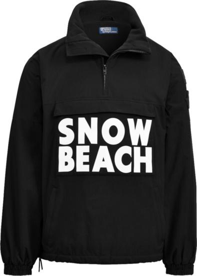Polo Ralph Lauren Black Snow Beach Pull Over