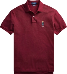 Polo Ralph Lauren Burgundy Bear Polo Shirt