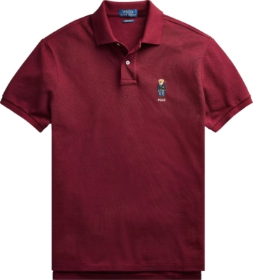 Polo Ralph Lauren Burgundy Bear Polo Shirt