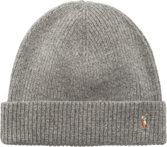 Polo Ralph Lauren Grey Knit Beanie