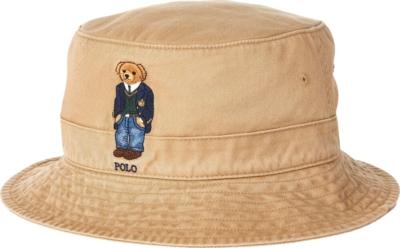 Polo Ralph Lauren Khaki Bear Bucket Hat