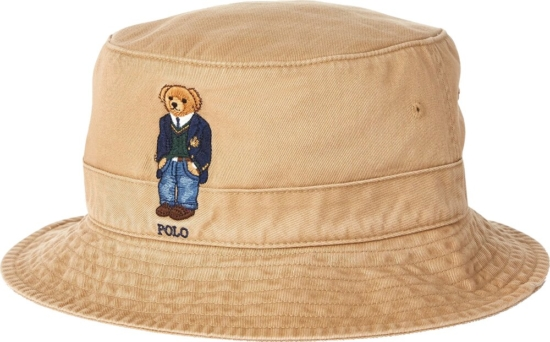Polo Ralph Lauren Khaki Bear Bucket Hat