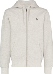 Light Grey 'Double Knit' Zip Hoodie