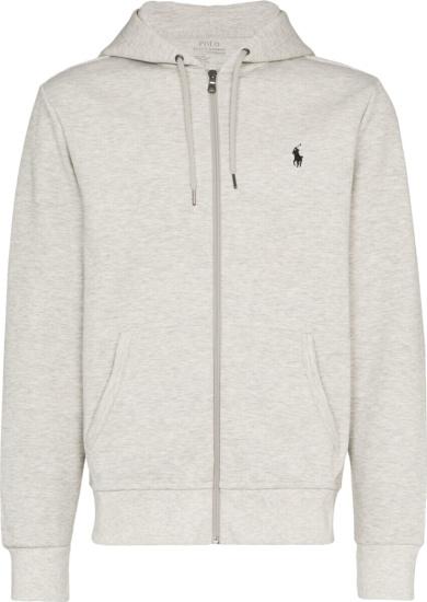 Polo Ralph Lauren Light Grey Zip Hoodie