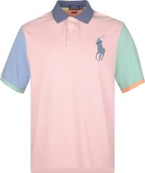 Polo Ralph Lauren Pink Color Block Polo Shirt