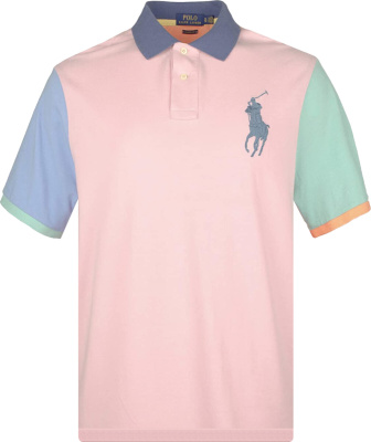 Polo Ralph Lauren Pink Color Block Polo Shirt