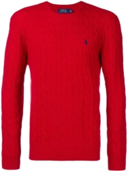 Polo Ralph Lauren Red Cable Knit Sweater