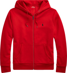 Polo Ralph Lauren Red Double Knit Hoodie