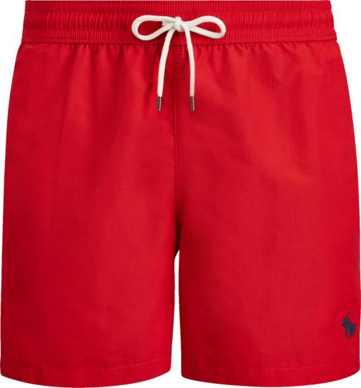 Polo Ralph Lauren Red Swim Shorts