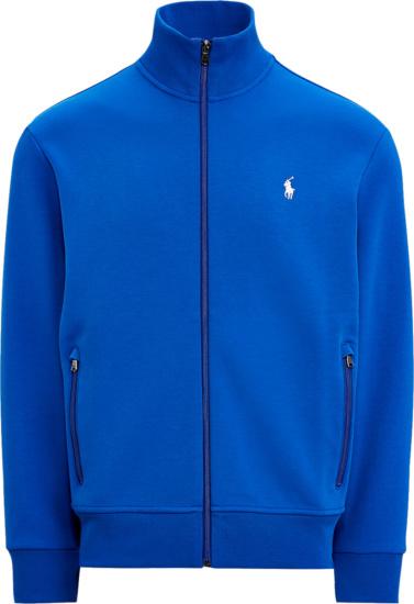 Polo Ralph Lauren Royal Blue Double Knit Track Jacket