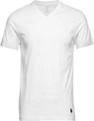 Polo Ralph Lauren Slim Fit White V Neck Undershirts