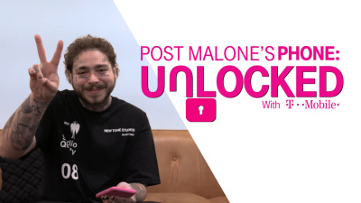 Post Malone Sits Down With T Mobile Unlocked In New Tone Studios T Shirt