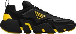 Black & Yellow 'Techno Stretch' Sneakers