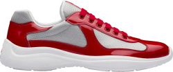 Patent Red & Silver 'Americas Cup' Sneakers