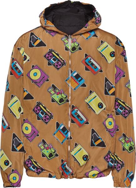 Prada Beige Casette Print Jacket