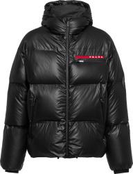Prada Black Linea Rossa Puffer Jacket Sgb574 1t2y F0002 S 202