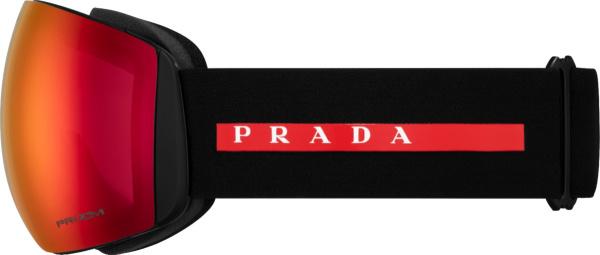 Prada Black And Red Ski Goggles