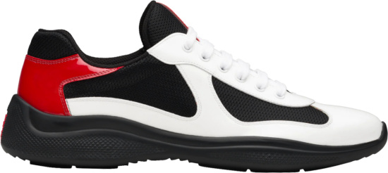 Prada Black And White Americas Cup Sneakers