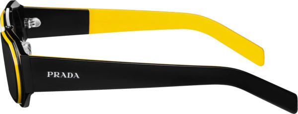 Prada Black And Yellow Trim Sunglasses