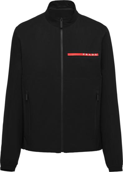 Prada Black Bi Stretch Jacket Sgb452 1t2z F0002 S 201