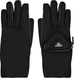Prada Black Cargo Pocket Re Nylon Gloves 2gg137 2dw1 F0002
